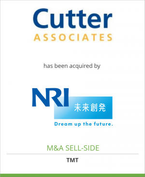 Tombstone image for Cutter Associates, LLC has been acquired by Nomura Research Institute