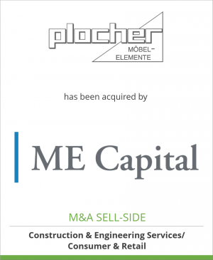 Tombstone image for Plocher Möbelelemente GmbH has been acquired by ME Capital Advisory & Consulting