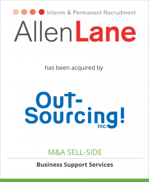 Tombstone image for Allen Lane Consultancy Limited has been acquired by OUTSOURCING Inc.