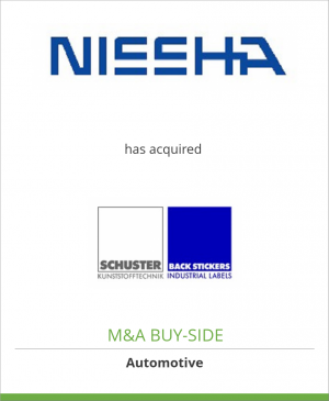 Tombstone image for Nissha Europe GmbH has acquired Schuster and Back Stickers