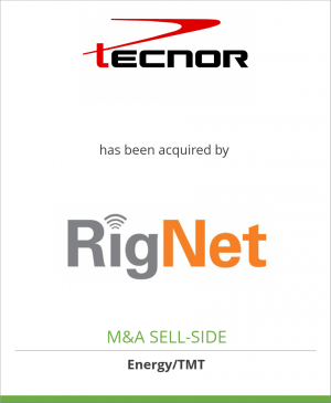 Tombstone image for Tecnor has been acquired by RigNet, Inc.