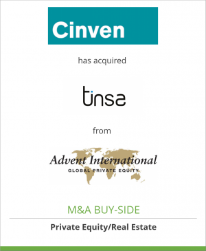 Tombstone image for Cinven has acquired Tinsa Tasaciones Inmobiliarias from Advent International Corporation