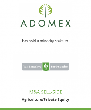 Tombstone image for Adomex has sold a minority stake to Van Lanschot Participaties