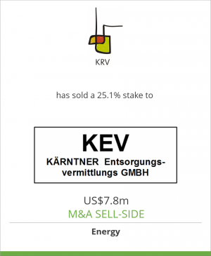 Tombstone image for Kärntner Restmüllverwertung GmbH has sold a 25.1% stake to Kärntner Entsorgungsvermittlungs