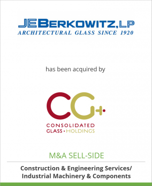 Tombstone image for J.E. Berkowitz, LP has been acquired by Consolidated Glass Holdings, Inc