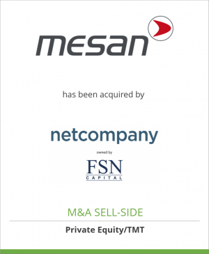Tombstone image for Mesan AS  has been acquired by    Netcompany A/S
