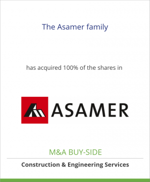 Tombstone image for The Asamer family has acquired 100% of the shares in Asamer Kies- und Betonwerke GmbH