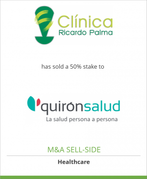 Tombstone image for Clínica Ricardo Palma has sold a 50% stake to Quirónsalud
