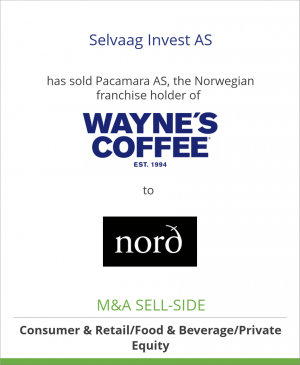 Tombstone image for Selvaag Invest AS has sold Pacamara AS, the Norwegian franchise holder of Pacamara Drift AS to Nord Kaffe AS