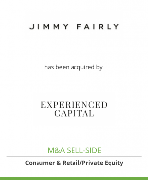 Tombstone image for Jimmy Fairly has been acquired by Experienced Capital Partners SAS