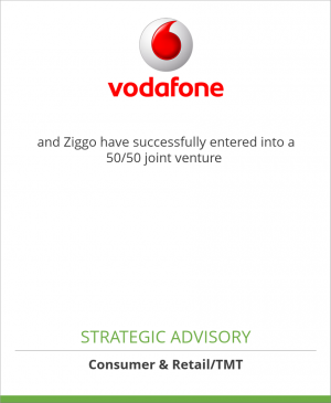 Tombstone image for Vodafone Netherlands and Ziggo have successfully entered into a 50/50 joint venture