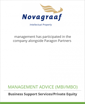 Tombstone image for Novagraaf management has participated in the company alongside Paragon Partners