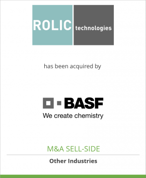 Tombstone image for Rolic AG has been acquired by BASF Schweiz AG