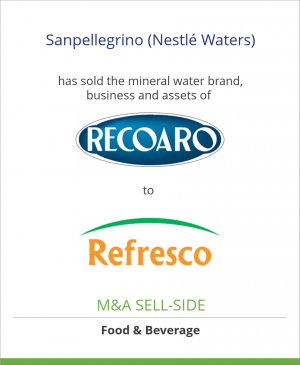 Tombstone image for Sanpellegrino (Nestlé Waters) has sold the mineral water brand, business and assets of Recoaro to Refresco