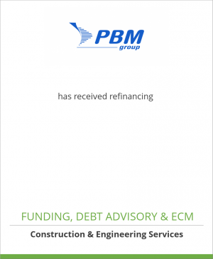 Tombstone image for Groupe PBM has received refinancing