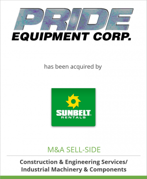 Tombstone image for Pride Equipment Corporation has been acquired by Sunbelt Rentals