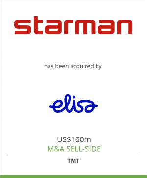 Tombstone image for AS Starman has been acquired by Elisa Oyj