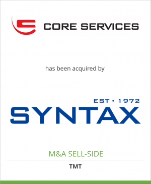 Tombstone image for Core Services Corporation has been acquired by Syntax Systems