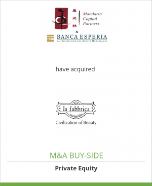 Tombstone image for Mandarin and Banca Esperia have acquired La Fabbrica S.p.A.