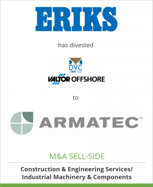 Tombstone image for ERIKS has divested Dansk Ventil Center A/S to Armatec