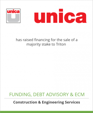 Tombstone image for Unica has raised financing for the sale of a majority stake to Triton