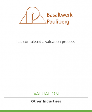 Tombstone image for Basaltwerk Pauliberg GmbH & Co. has completed a valuation process