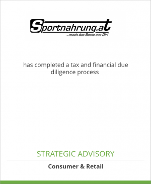 Tombstone image for Sporternährung Mitteregger GmbH has completed a tax and financial due diligence process