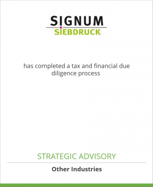 Tombstone image for Signum Siebdruck Ges. m. b. H. has completed a tax and financial due diligence process