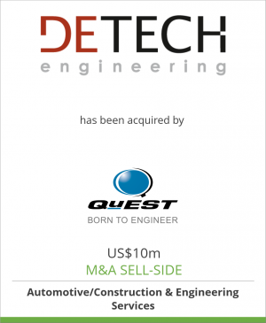 Tombstone image for DETECH Fahrzeugentwicklung  has been acquired by QuEST Global Engineering