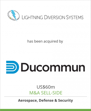 Tombstone image for Lightning Diversion Systems has been acquired by Ducommun Incorporated