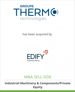 Tombstone image for Thermo Technologies has been acquired by Edify SA