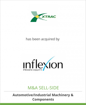 Tombstone image for Xtrac Limited has been acquired by Inflexion Private Equity