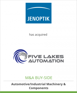 Tombstone image for JENOPTIK AG has acquired Five Lakes Automation