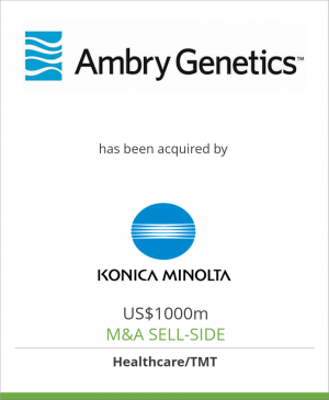 Tombstone image for Ambry Genetics Corporation has been acquired by Konica Minolta, Inc.