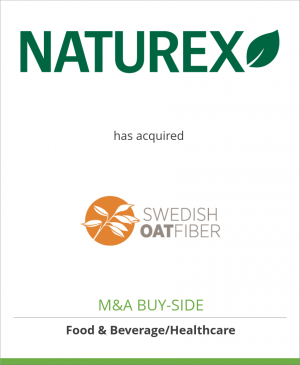 Tombstone image for Naturex SA has acquired Swedish Oat Fiber AB