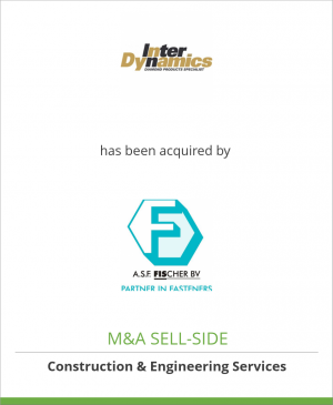 Tombstone image for InterDynamics Salesgroup B.V. has been acquired by A.S.F. Fischer BV