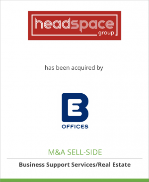 Tombstone image for Headspace Properties Limited has been acquired by BE Offices Limited
