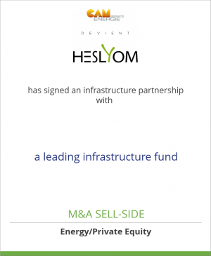 Tombstone image for Heslyom (CAM Energie Service) has signed an infrastructure partnership with a leading infrastructure fund