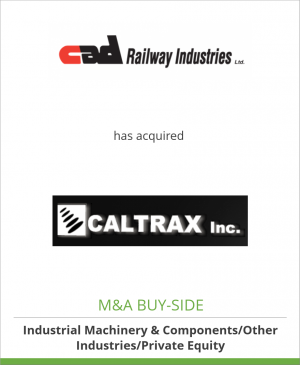 Tombstone image for Cad Railway Industries Ltd. has acquired Caltrax Inc.
