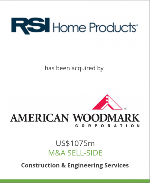 Tombstone image for RSI Home Products has been acquired by American Woodmark Corporation