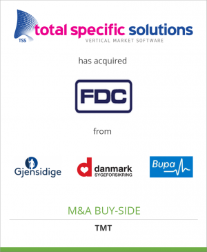 Tombstone image for Total Specific Solutions B.V. has acquired Forsikringens Datacenter A/S from A group of insurance companies