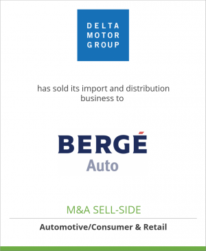 Tombstone image for Delta Motor Group has sold its import and distribution business to Bergé Auto