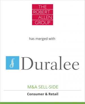 Tombstone image for The Robert Allen Group, Inc. has merged with Duralee Fabrics, Ltd.