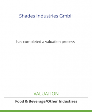 Tombstone image for Shades Industries GmbH has completed a valuation process