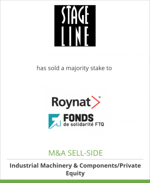 Tombstone image for Stageline Mobile Stage Inc. has sold a majority stake to Roynat Capital and Fonds FTQ