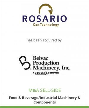 Tombstone image for Rosario Can Technology has been acquired by Belvac Production Machinery Inc.