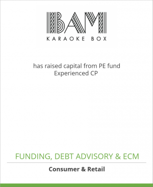 Tombstone image for BAM Karaoke Box has raised capital from PE fund Experienced CP