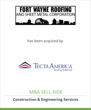 Tombstone image for Fort Wayne Roofing, Inc. has been acquired by Tecta America
