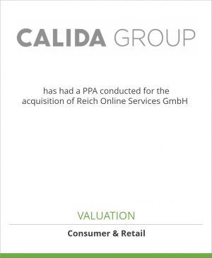 Tombstone image for CALIDA Group has had a PPA conducted for the acquisition of Reich Online Services GmbH