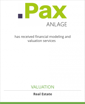Tombstone image for PAX Anlage AG has received financial modeling and valuation services